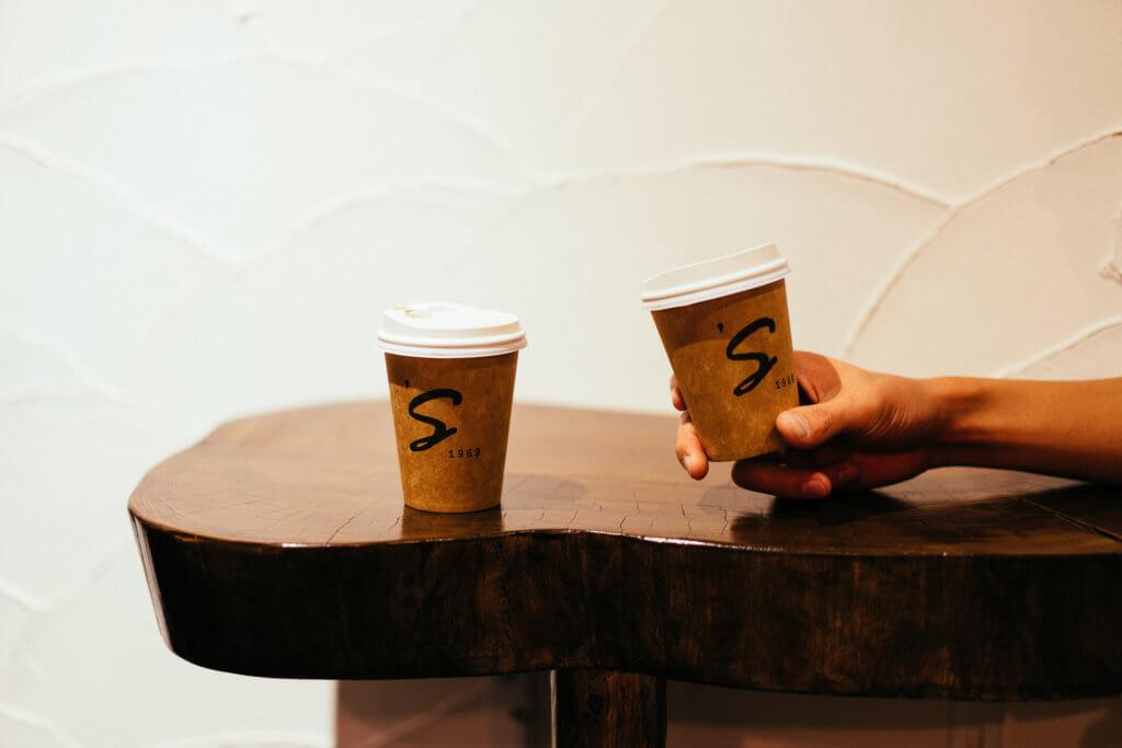 1969's coffee stand テーブル