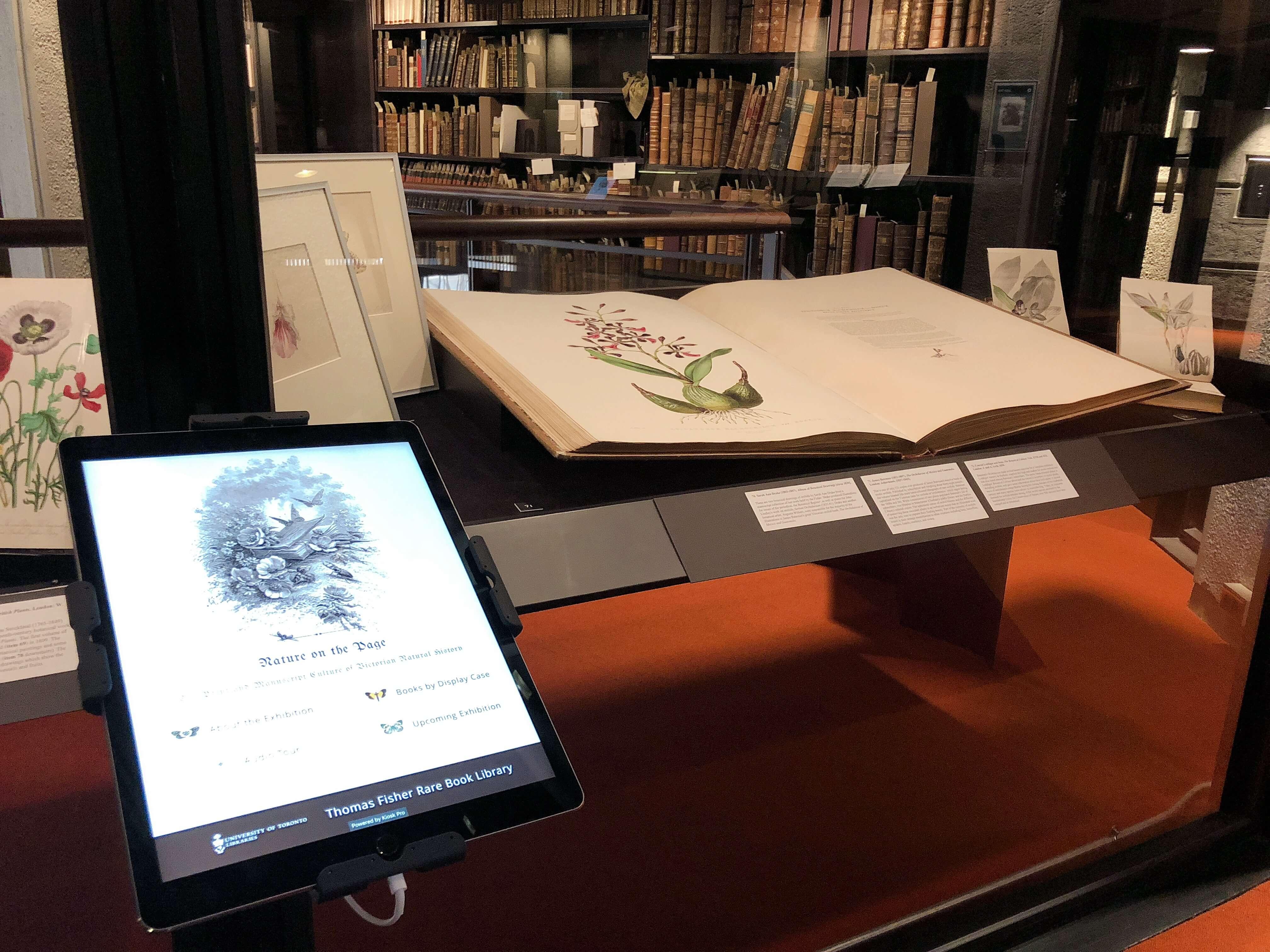 トーマスフィッシャーレアブックライブラリーの展示物