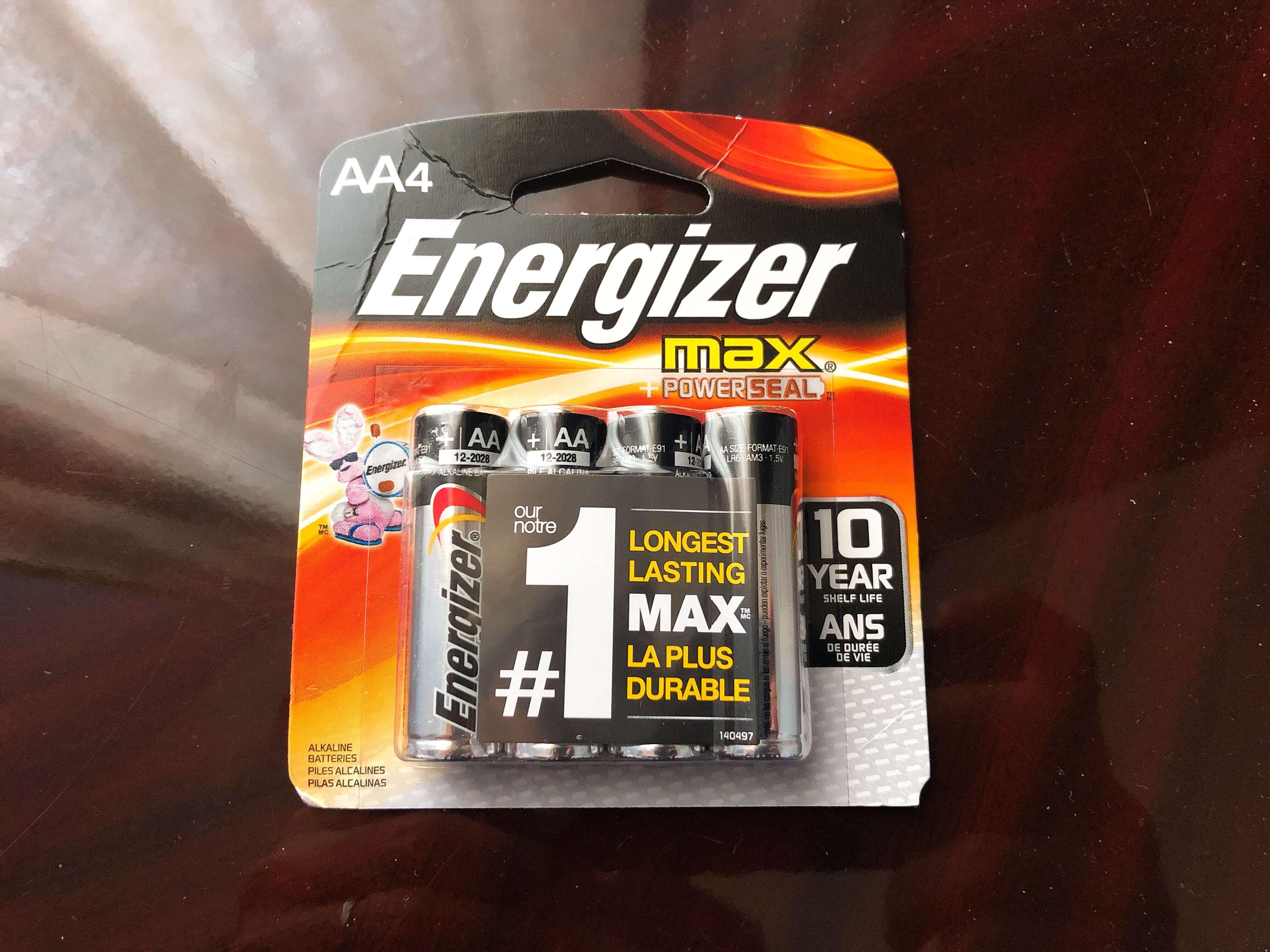 Energizerの乾電池