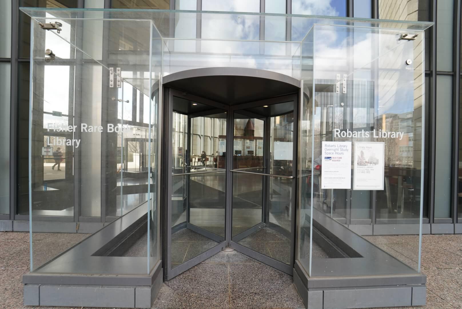 トーマスフィッシャーレアブックライブラリーの入り口