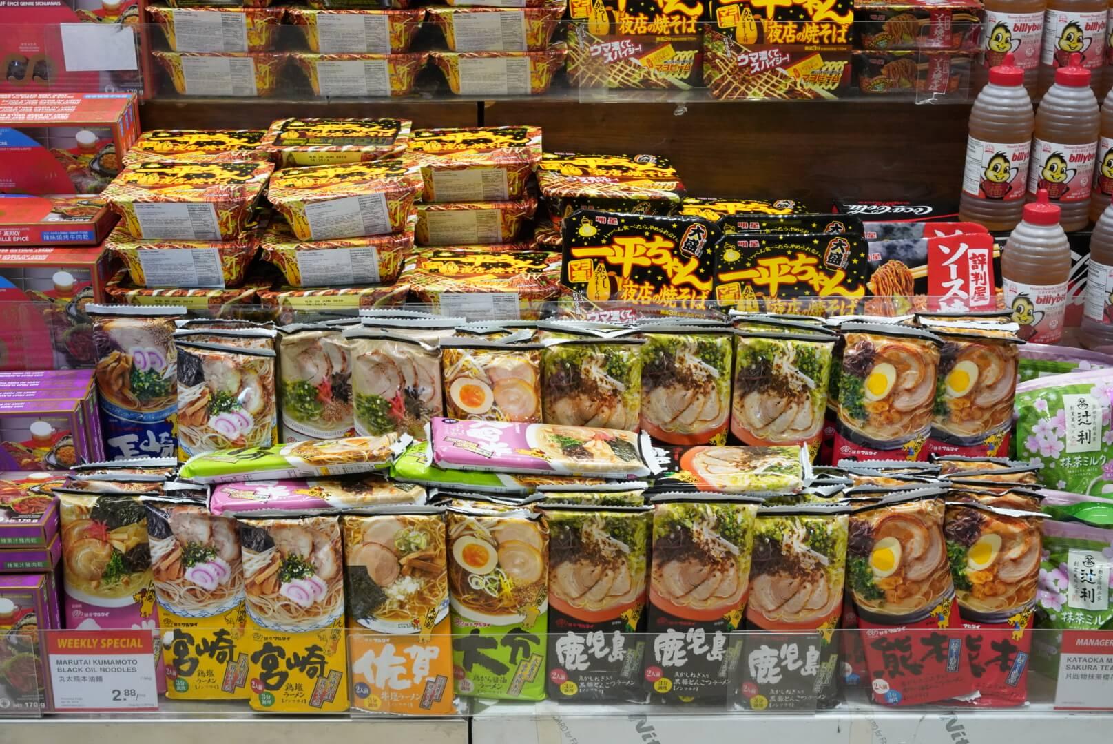 カナダのアジア系スーパー「T&T」にあったカップラーメン