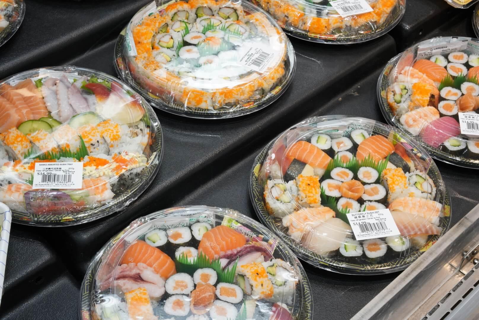 カナダのアジア系スーパー「T&T」の寿司