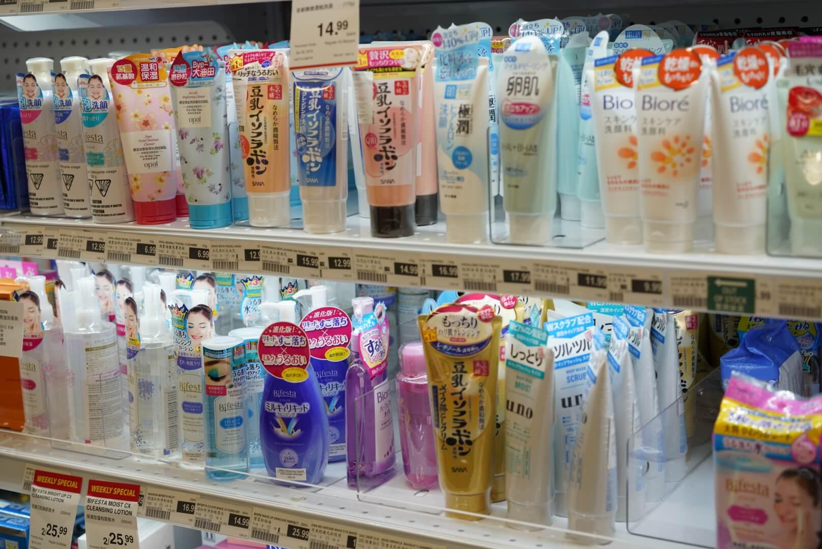 カナダのアジア系スーパー「T&T」の洗顔料