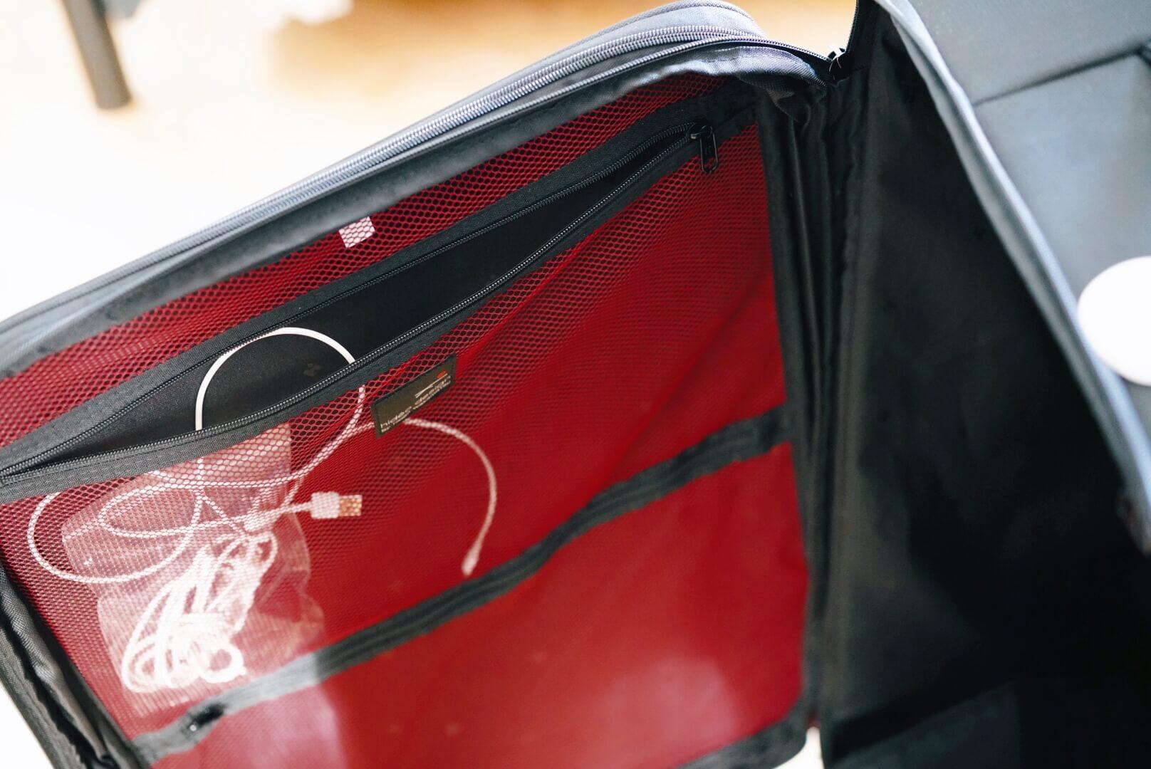hideo wakamatsu fly2のスーツケースを内収納