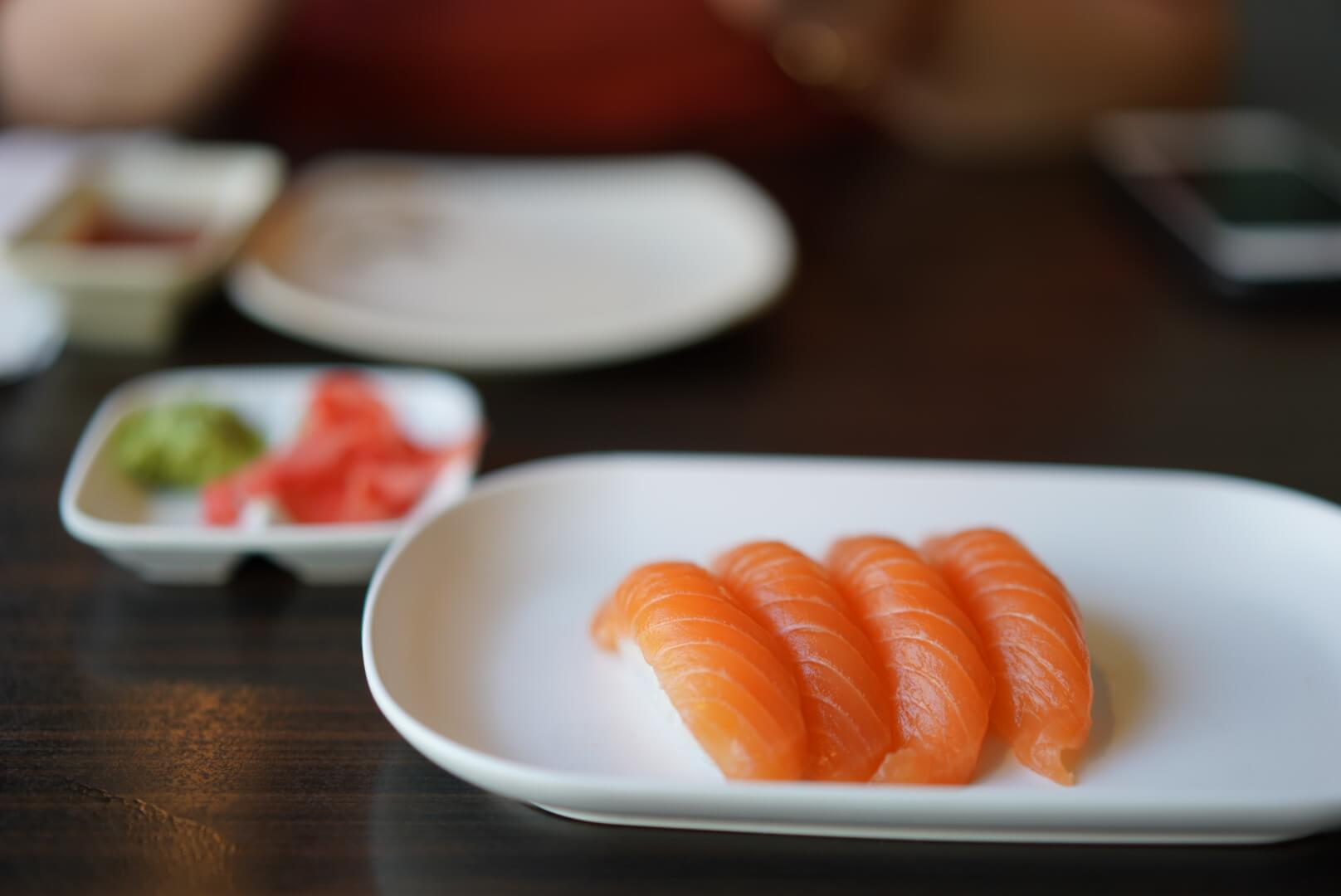 kyoto house sushiのサーモン寿司