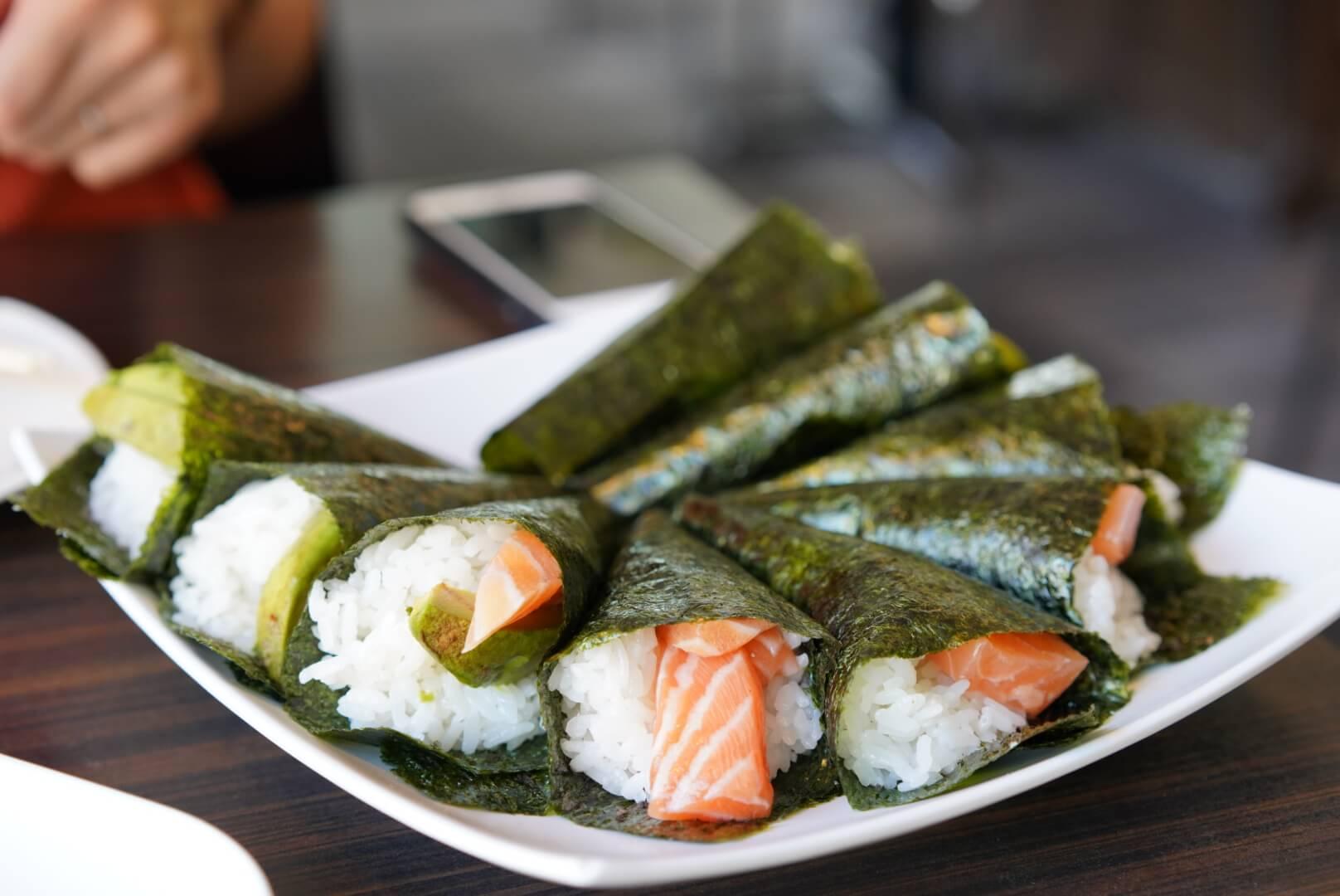 kyoto house sushiの手巻き寿司