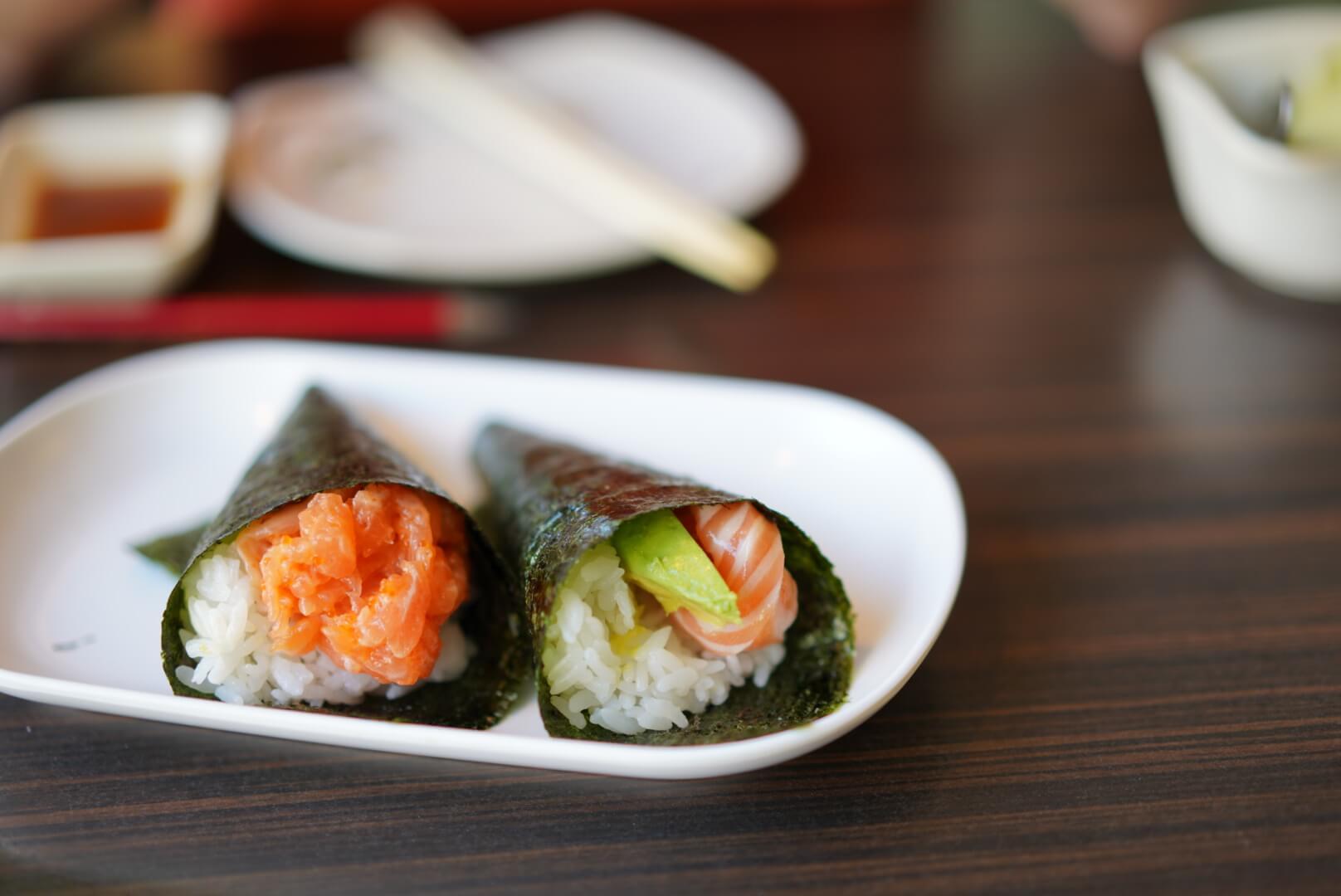 kyoto house sushiのスパイシーサーモン
