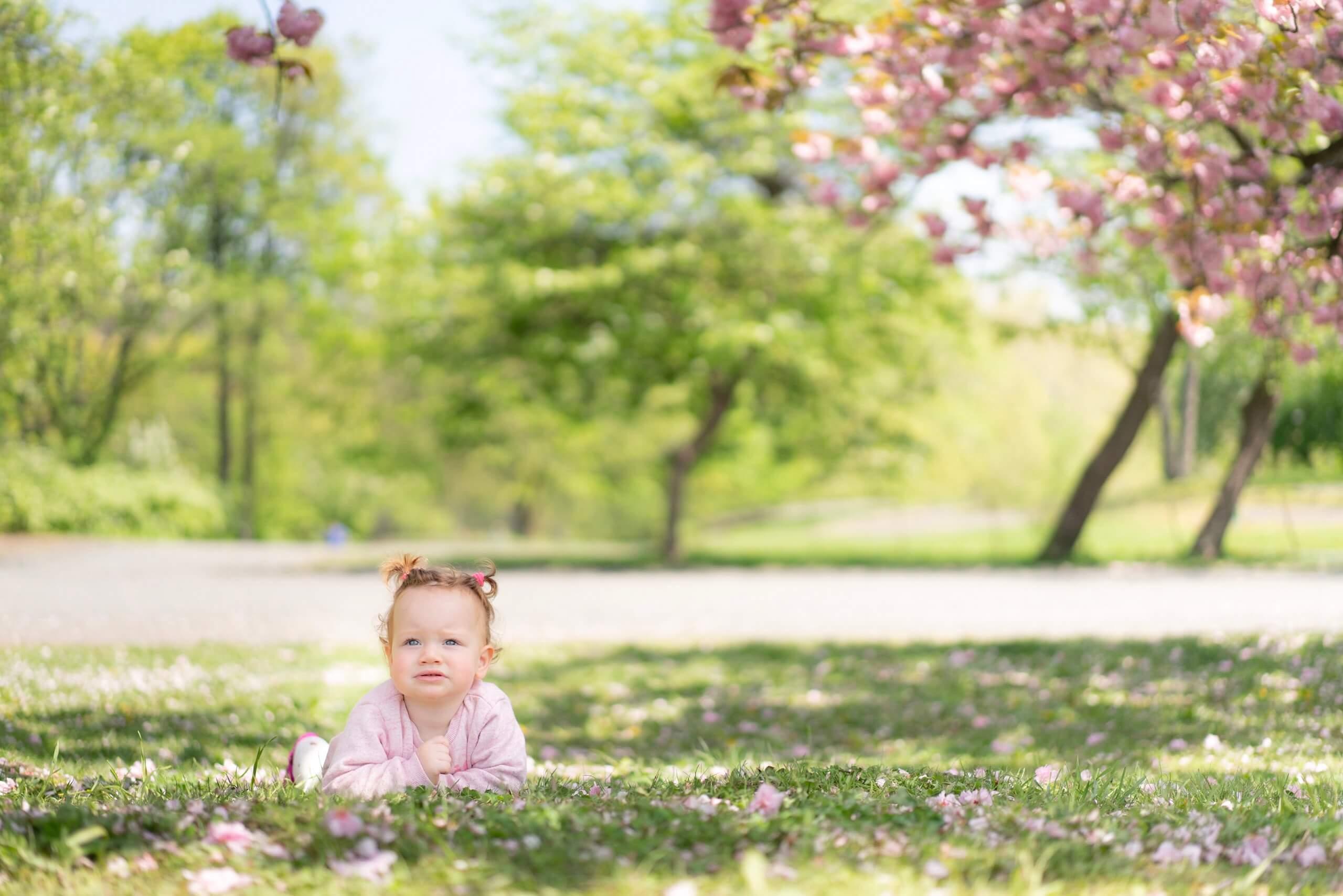 セントラルパークで撮った赤ちゃんの写真